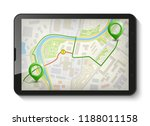 city map route navigation... | Shutterstock .eps vector #1188011158
