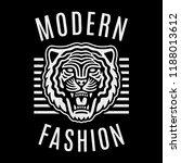 roaring tiger poster. modern...   Shutterstock .eps vector #1188013612