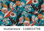 Stock vector seamless floral pattern in vector 1188014758