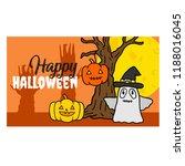happy halloween banner. | Shutterstock .eps vector #1188016045