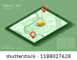 city map navigation route ... | Shutterstock .eps vector #1188027628