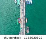 fishing boat in the sea. | Shutterstock . vector #1188030922