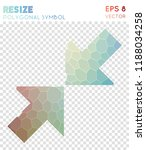 resize small polygonal symbol ... | Shutterstock .eps vector #1188034258