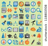 set of education icons for... | Shutterstock .eps vector #118803508