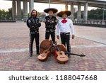 mexican musicians mariachi band | Shutterstock . vector #1188047668