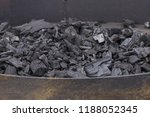 heap of black charcoal or... | Shutterstock . vector #1188052345