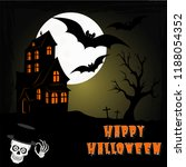 hallowing vector postcard vector | Shutterstock .eps vector #1188054352