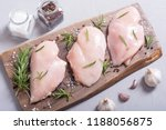 raw chicken breast   fillet  ... | Shutterstock . vector #1188056875