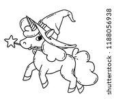 halloween unicorn with magic... | Shutterstock .eps vector #1188056938