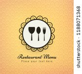 restaurant icons colorful... | Shutterstock .eps vector #1188071368