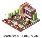 vector isometric hospital or... | Shutterstock .eps vector #1188072982