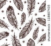 vintage feather pattern for... | Shutterstock .eps vector #118807435