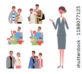 an image set of family life and ... | Shutterstock .eps vector #1188077125
