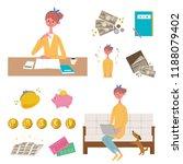 an image set of family finances | Shutterstock .eps vector #1188079402