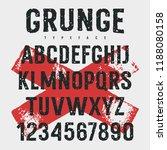 rough stamp typeface. grunge... | Shutterstock .eps vector #1188080158