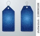 price tags of denim fabric... | Shutterstock .eps vector #1188080188