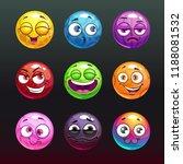 comic jelly balls with emoji...
