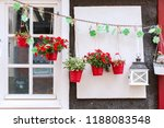 picture of a window decorated... | Shutterstock . vector #1188083548