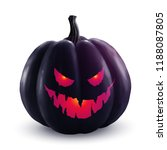 black vector halloween pumpkin... | Shutterstock .eps vector #1188087805