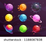 cartoon colorful fantasy... | Shutterstock .eps vector #1188087838