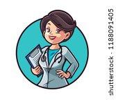doctor woman illustration | Shutterstock .eps vector #1188091405