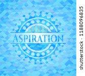 aspiration sky blue emblem with ... | Shutterstock .eps vector #1188096835