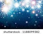 fireworks on blue sky... | Shutterstock .eps vector #1188099382