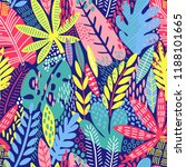 bright tropical leaf seamless... | Shutterstock .eps vector #1188101665