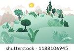 vector natural landscape... | Shutterstock .eps vector #1188106945