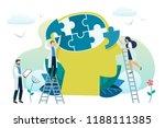 mental health concept. solving... | Shutterstock .eps vector #1188111385