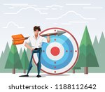 target with arrow vector... | Shutterstock .eps vector #1188112642
