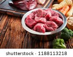 healthy dog food ingredients on ... | Shutterstock . vector #1188113218
