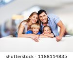 beautiful smiling family in... | Shutterstock . vector #1188114835