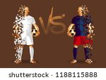 white and blue soccer players... | Shutterstock .eps vector #1188115888