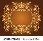vector abstract ornamental... | Shutterstock .eps vector #1188121258