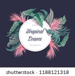 bright tropical background with ... | Shutterstock .eps vector #1188121318