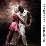 young and sexy couple dances... | Shutterstock . vector #1188125212