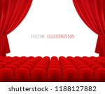cinema or theatre screen with... | Shutterstock .eps vector #1188127882