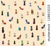 seamless background with shoes | Shutterstock .eps vector #118813225