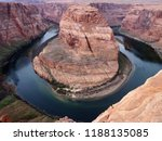 horseshoe bend  the most famous ... | Shutterstock . vector #1188135085