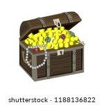 wooden treasure chest | Shutterstock .eps vector #1188136822