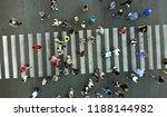 pedestrian crosswalk with many... | Shutterstock . vector #1188144982