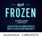 """frozen"" blue vintage stylish... 