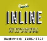 """inline"" vintage 3d condensed... | Shutterstock .eps vector #1188145525"