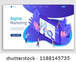 landing page isometric team of... | Shutterstock .eps vector #1188145735