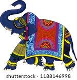 navy blue indian elephant... | Shutterstock .eps vector #1188146998