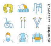 trauma treatment color icons...   Shutterstock .eps vector #1188149905