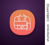 shoulder immobilizer app icon.... | Shutterstock .eps vector #1188149932
