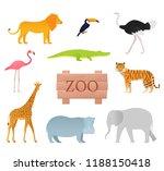 zoo animals. vector. animal... | Shutterstock .eps vector #1188150418