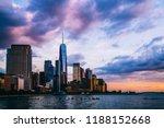 panoramic view of manhattan... | Shutterstock . vector #1188152668